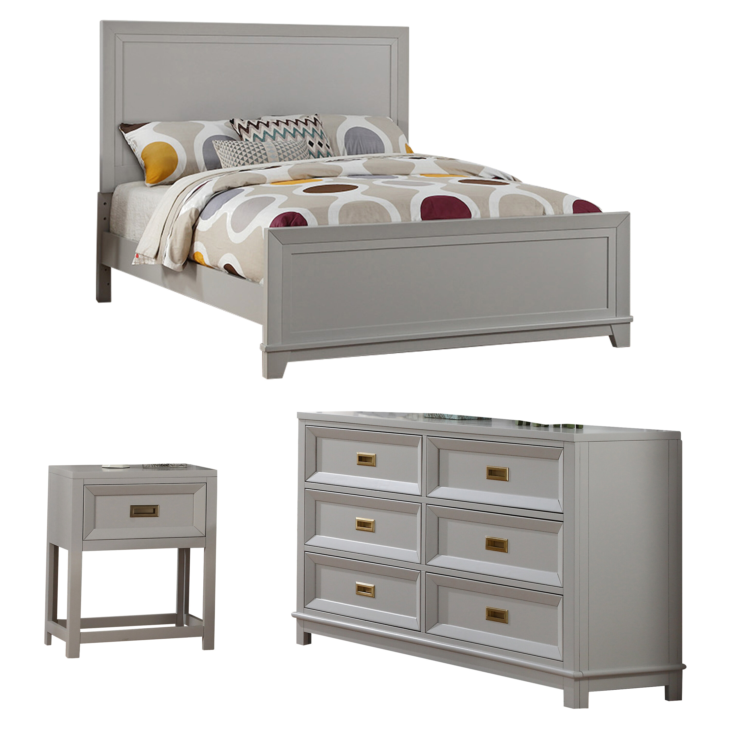 Double Full Grey Kids Bedroom Sets You Ll Love In 2021 Wayfair