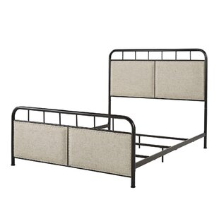 Shipe Metal Queen Upholstered Panel Bed