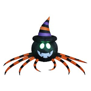 Halloween Inflatable Spider with Hat
