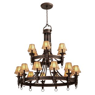 Kalco Americana 18-Light Shaded Chandelier