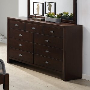 Gloria 9 Drawer Dresser by Roundhill Furniture