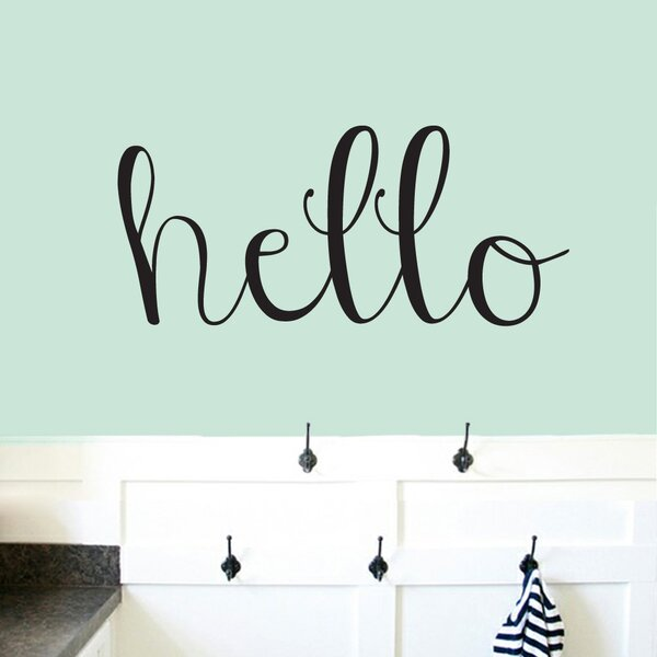Baby Greeting Entryway Welcome Office Hello Word Bubble Wall Decal Decor