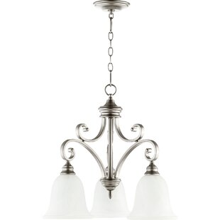 Cambron Transitional 3-Light Shaded Chandelier