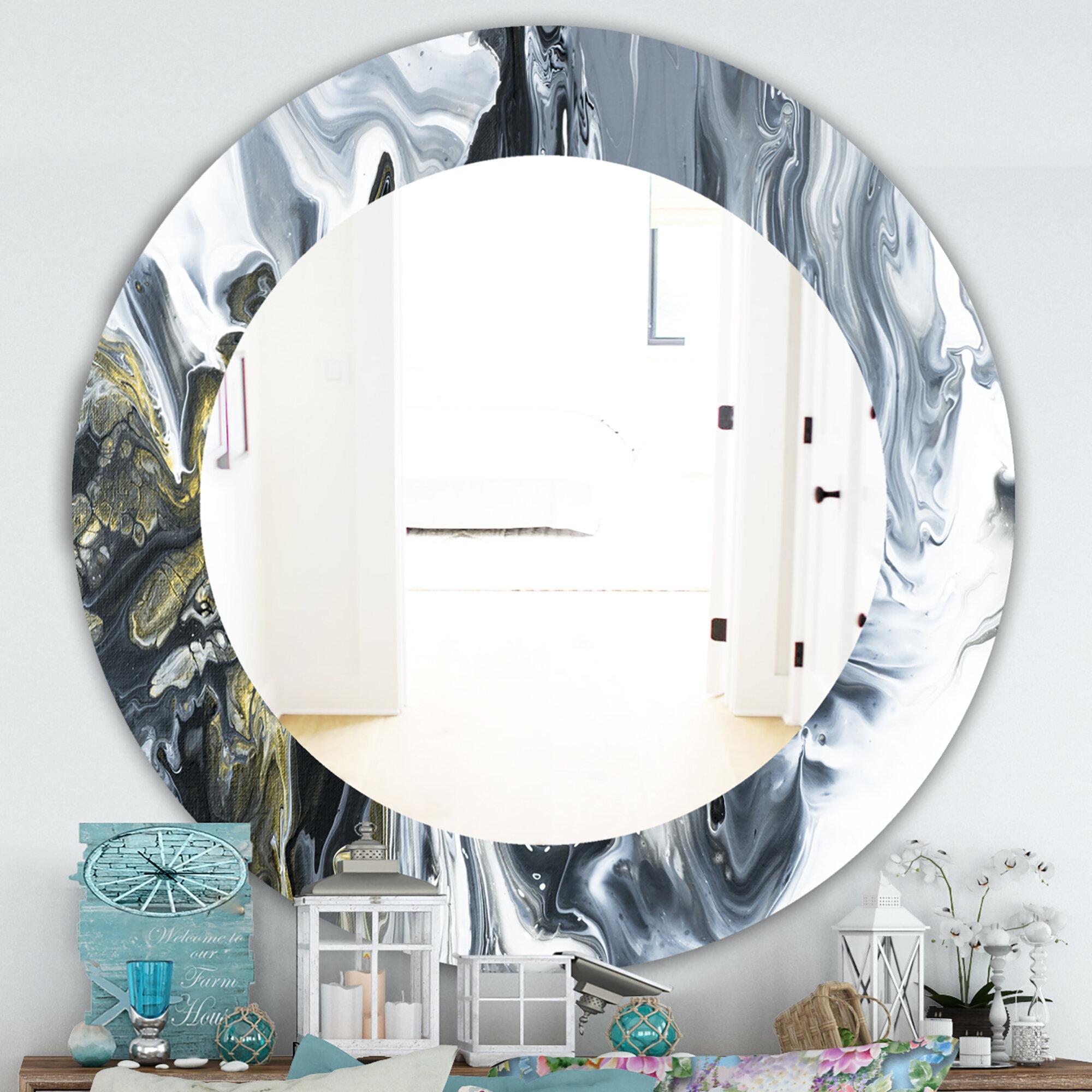 East Urban Home Marbled Geode Mid Century Modern Contemporary Bathroom Vanity Mirror Wayfair
