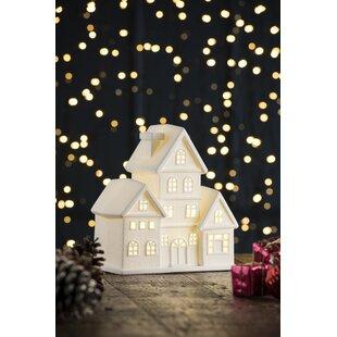 Beige Townhouse LED Luminary Light Image