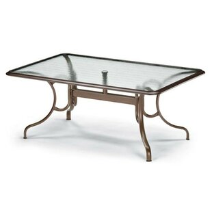 Glass Tables Deluxe Rectangle Ogee Rim Aluminum Dining Table By Telescope Casual
