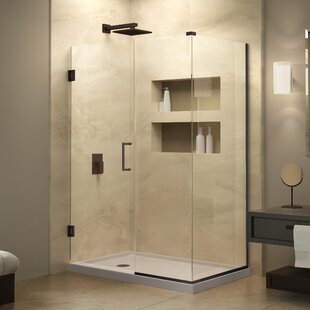 Unidoor Plus 45 x 72 Hinged Frameless Shower Door with Clear Max Technology by DreamLine