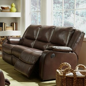 Sawgrass Leather Reclining Sofa by Palliser Furniture