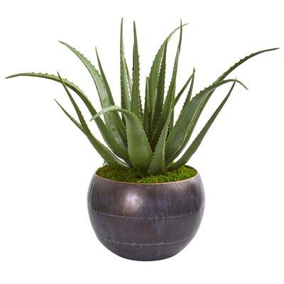17 Stories Artificial Aloe Plant in Decorative Vase