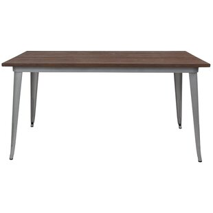 Debrah Metal Indoor Dining Table by Williston Forge