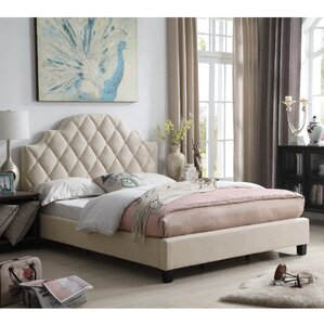 Norfleet Diamond Tufted Upholstered Panel Bed by Everly Quinn