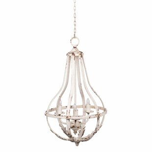 Shreya Antique Metal 3-Light Empire Chandelier by One Allium Way