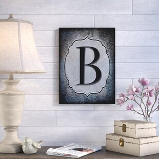 U0027Letter Bu0027 Textual Art On Wrapped Canvas