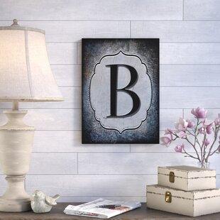 letter b wall art wayfair