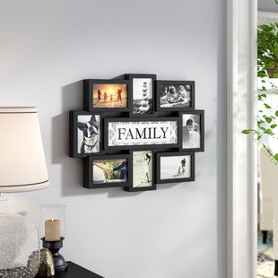Giddings Family Theme Wall Hanging 8 Opening Photo Sockets Picture Frame