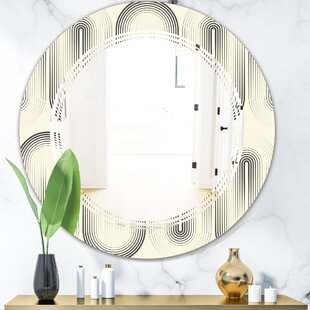 Triple C Curved Minimal Geometric Ornament I Modern Frameless Wall Mirror