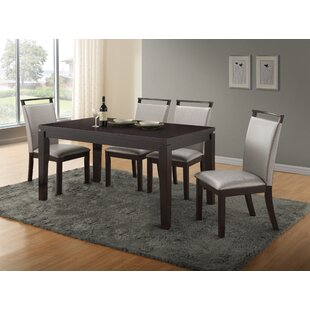 Wimbish 5 Piece Solid Wood Dining Set Latitude Run