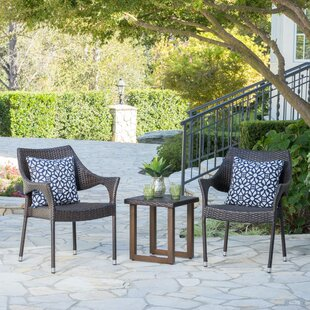 Manufahi 3 Piece Rattan Conversation Set