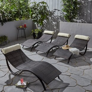 Bloch Chaise Lounge with Cushion (Set of 4)