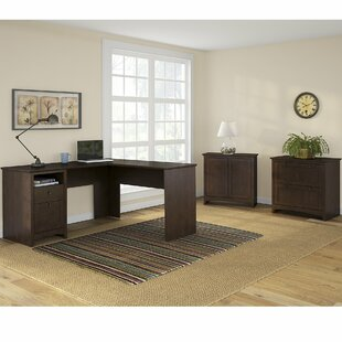 Review Fralick 3 Piece L-Shape Desk Office Suite by Darby Home Co