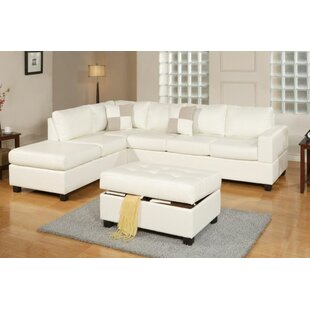 Marquise Reversible Sectional With Ottoman