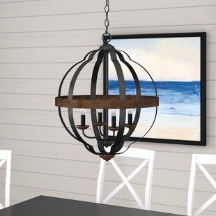 Affordable Price Ingrid 4-Light Globe Chandelier By Laurel Foundry Modern Farmhouse
