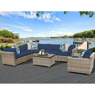 Monterey 8 Piece Sectional Seating Group with Cushions