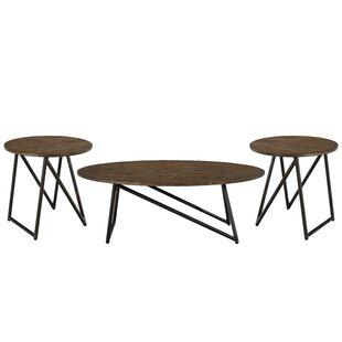 Union Rustic Porath 3 Piece Coffee Table Set
