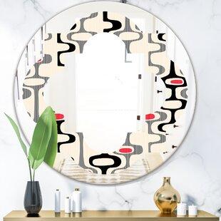 Quatrefoil Abstract Design IX Modern Frameless Wall Mirror by East Urban Home