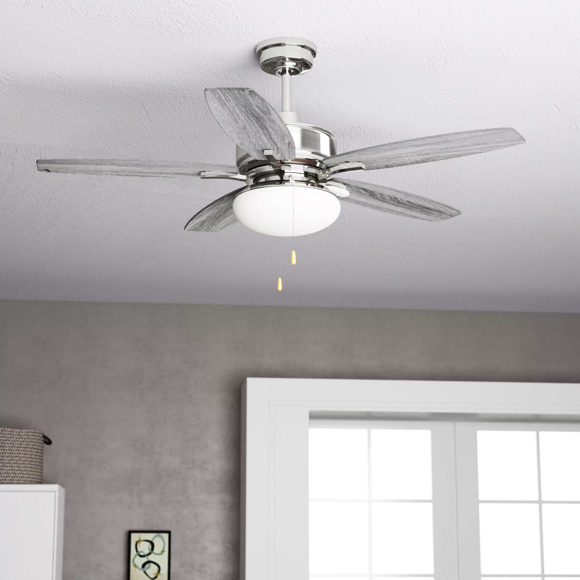 Red Barrel Studio 52 Segars 5 Blade Standard Ceiling Fan With Light Kit Included Reviews Wayfair