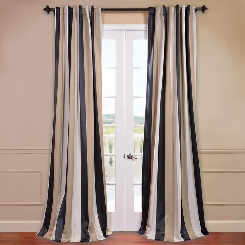 striped blackout curtains curtain design ideas