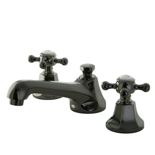 Kingston Brass Water Onyx Widespread Bathroom Faucet with Brass Pop-Up Drain