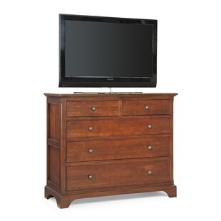 Cresent Furniture Retreat Cherry 4 Drawer Media Dresser Image