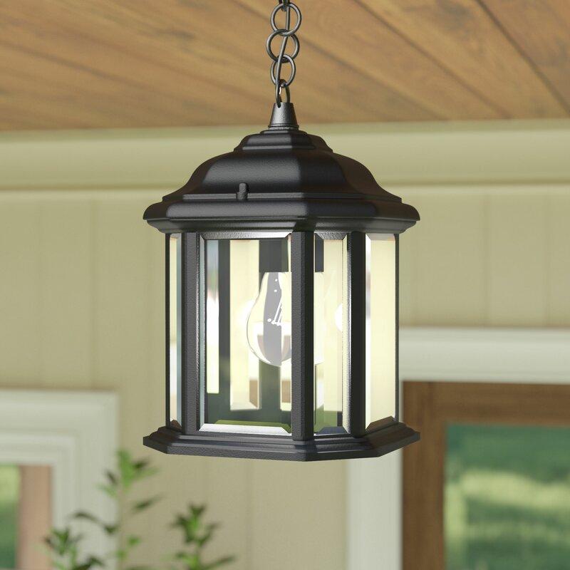 Darby home co burtt 1 light outdoor hanging lantern reviews wayfair burtt 1 light outdoor hanging lantern aloadofball Images