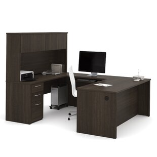 Karyn U-Shape Computer Desk with Hutch by Latitude Run