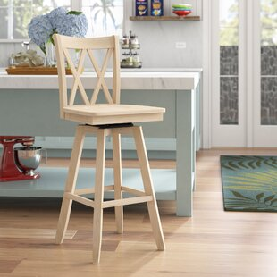 Deals Wembley Unfinished 30 Swivel Bar Stool by Beachcrest Home Reviews (2019) & Buyer's Guide