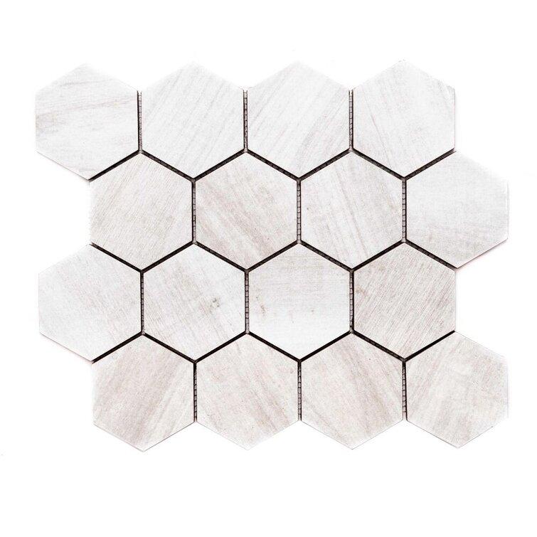 "Catskills 3"" W x 3"" L Porcelain Wall & Floor Mosaic Tile"