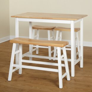 Macon 4 Piece Pub Table Set Highland Dunes