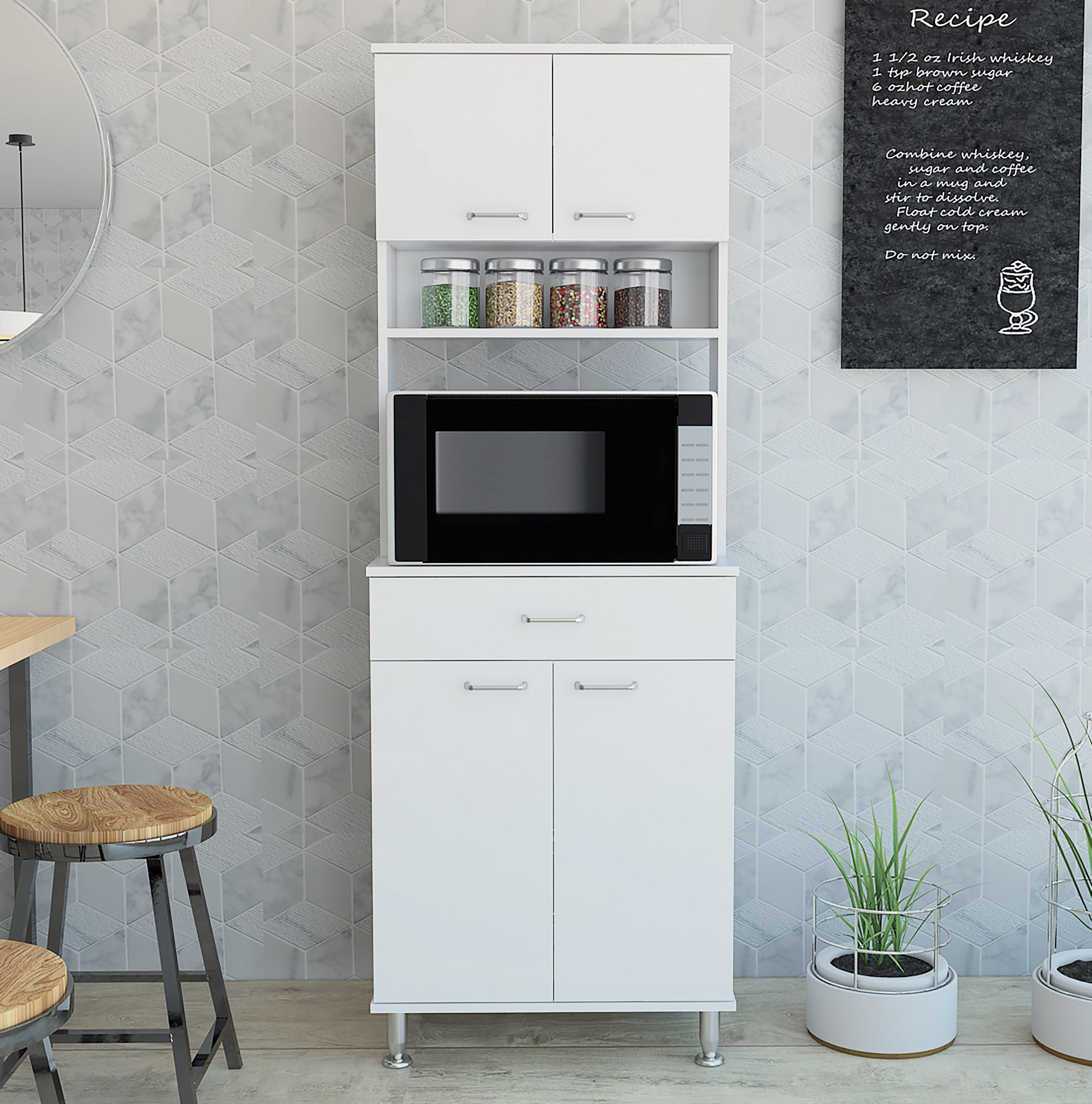 Latitude Run Hicksley 67 Kitchen Pantry Reviews