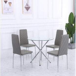Bergelmir Dining Set with 4 Chairs