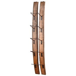 Small Fresno 5 Bottle Wall Mounted Wine Rack by Cyan Design