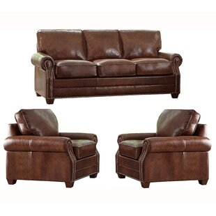 Read Reviews Lyndsey 3 Piece Leather Living Room Set by 17 Stories Reviews (2019) & Buyer's Guide