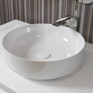 Aquatica Metamorfosi™ Ceramic Circular Vessel Bathroom Sink