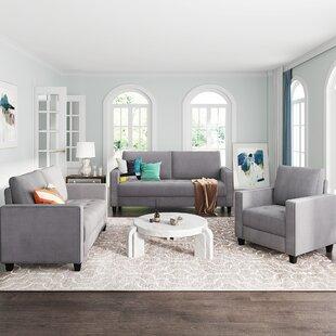 Jiquez 3 Piece Velvet Living Room Set by Latitude Run