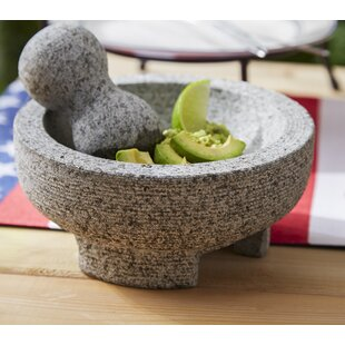 2 Piece Granite Mortar and Pestle Set