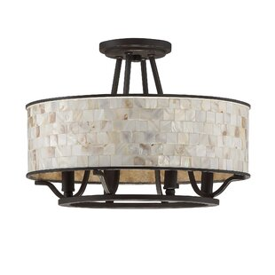 Bay Isle Home Eddington 4-Light Semi Flush Mount