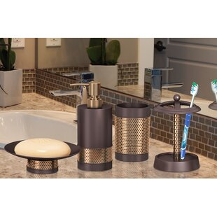 Halloway 4 Piece Bathroom Accessory Set by Williston Forge