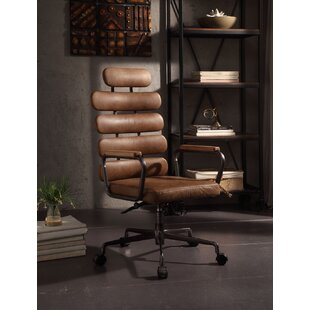 17 Stories Demetra Leather Office Chair