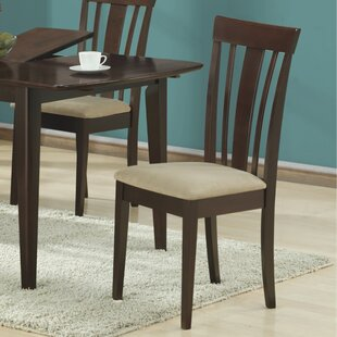Microfiber Side Chairs in Cappuccino (Set of 2) (Set of 2)