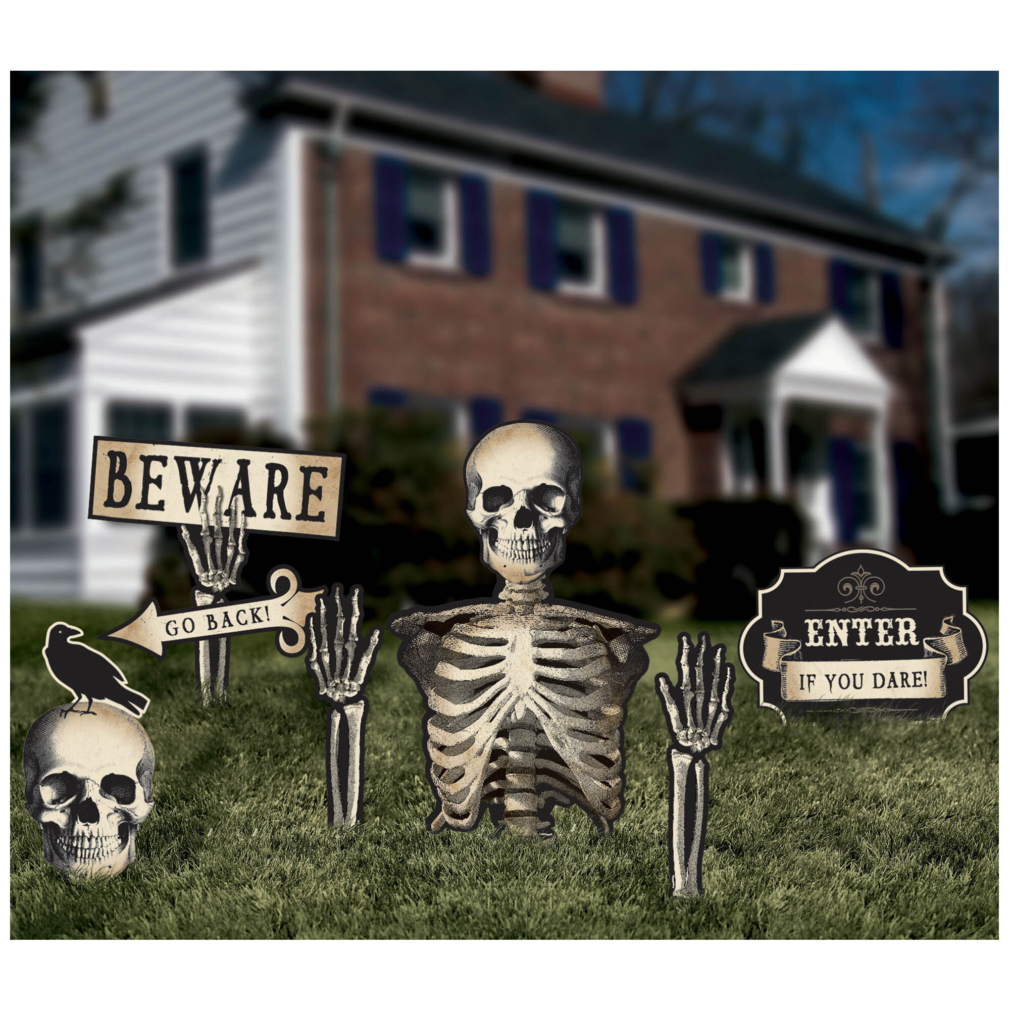 amscan halloween boneyard yard stakes & reviews | wayfair
